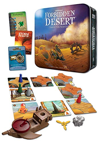 Gamewright Forbidden Desert – The Cooperative Strategy Survival Desert Board Game Multi-colored, 5'