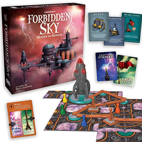 Gamewright Forbidden Sky – The Cooperative Strategy Survival Rocket Building Board Game, 5'