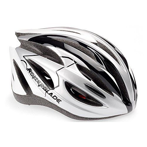 Rollerblade Performance Helmet, Unisex, Silver and White