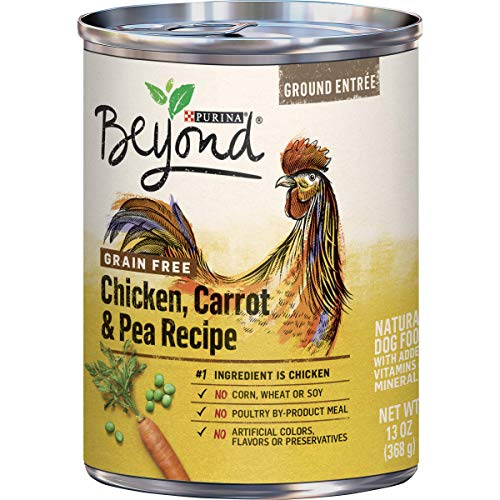Purina Beyond Grain Free Chicken, Carrot & Pea Recipe Ground Entree Adult Wet Dog Food - (12) 13 oz. Cans (Packaging May Vary)