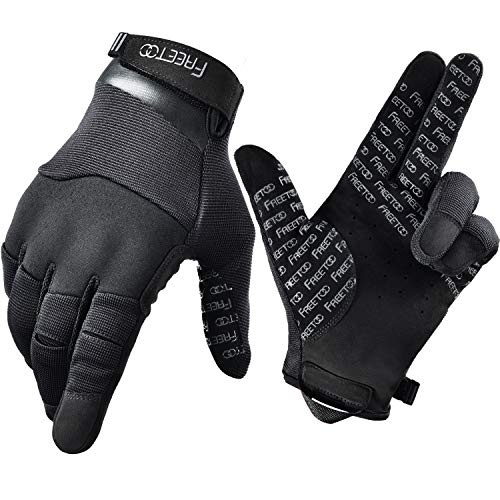 FREETOO Touch Screen Tactical Gloves Men Shooting Gloves Dexterous Wear-Resistant Military Gloves for Hunting Driving Airsoft, Medium