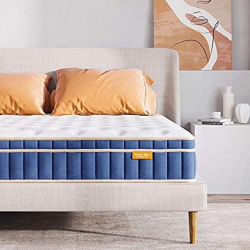 Sweetnight Ocean Blue 8' Hybrid Mattress | Gel Memory Foam & Individually Pocket Springs | Twin Size