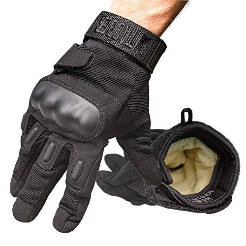 TAC9ER Tactical Gloves - Kevlar Lined Heavy Duty Gloves for Full Hand Protection