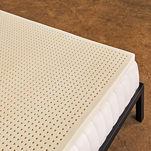 Pure Green 100% Natural Latex Mattress Topper - Soft - 3 Inch - Queen Size (GOLS Certified Organic)