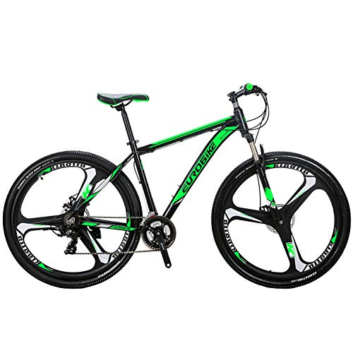 "29"" Mountain Bike Lightweight Aluminum Frame Front Suspension Daul Disc Brakes 21 Speed Mens Bicycle 29er MTB"