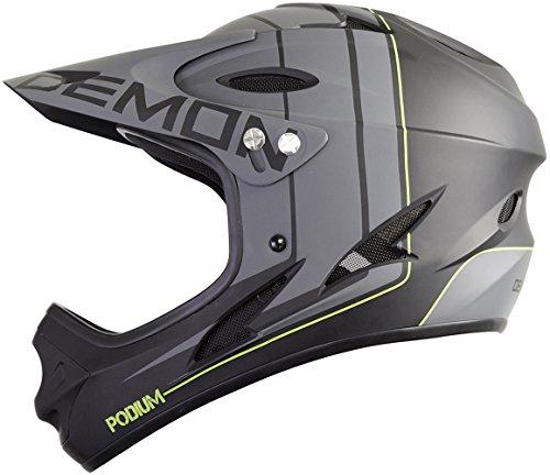 Demon Podium Full Face Mountain Bike Helmet (Black, M)