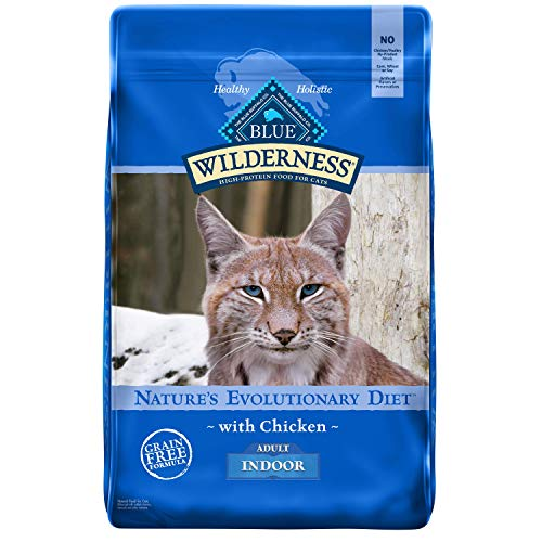 Blue Buffalo Wilderness High Protein, Natural Adult Indoor Dry Cat Food, Chicken 11-Lb
