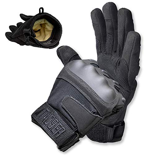 TAC9ER Kevlar Lined Tactical Gloves - Full Hand Protection, Cut and Temperature Resistant, Touch Screen Friendly Gloves for Airsoft, Military, Law Enforcement, and Heavy Duty Use