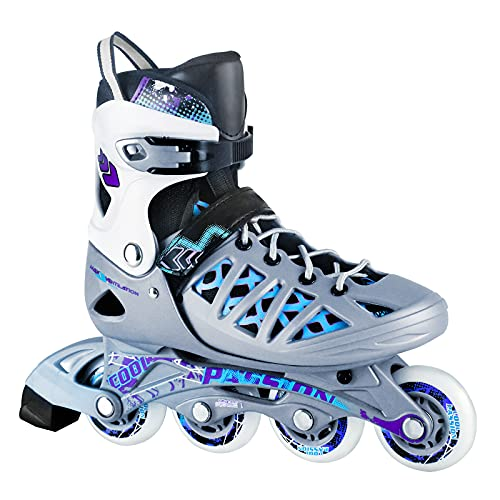 AILUNHUA Inline Skates for Adults and Youths, 4 Size Adjustable Roller Skates for Men, Women, Children, Available for Indoor Outdoor Highway Ice Rink Park etc